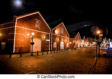 Red brick warehouse in Hakodate Japan1