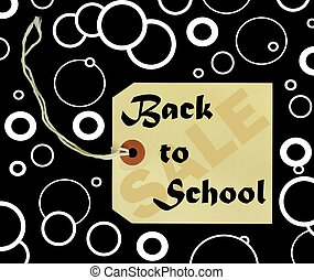 back to school sale tag