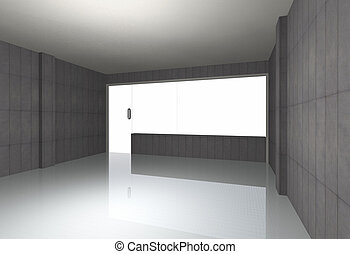 Bare concrete room