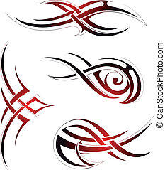 Tribal art - Set of graphic design elements in tribal art...