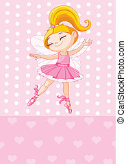Little blond princess - Happy little princess over pink...
