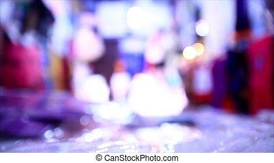 Bokeh Merchandise - Merchandise in night market...