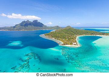 francese, Polynesia, elicottero