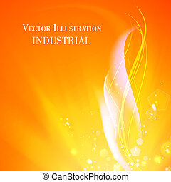 Abstract background of industry fire Vector illustration