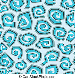 abstract blue spirals seamless