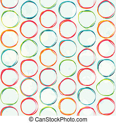colored circle seamless pattern with grunge effect