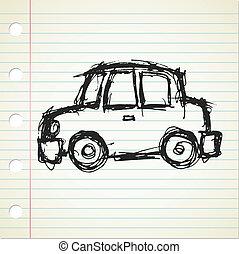 cartoon car doodle