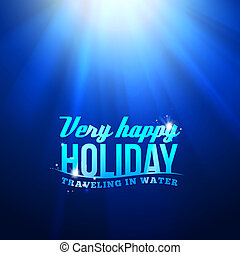 Underwater sunrays for aqua travel design Vector...
