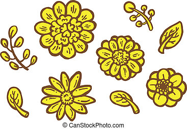 cute flower decorative element