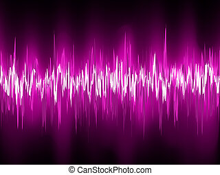 Abstract purple waveform. EPS 8 vector file included