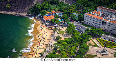 Urca - Aerial view of Urca neighborhood from Sugarloaf...