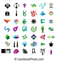 collection of vector icons for business and finance