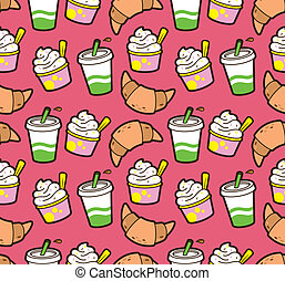 food and drink wrapping paper patern