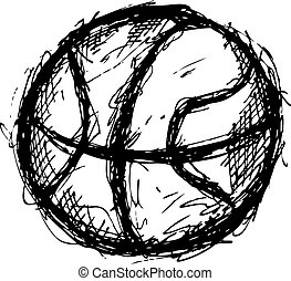 grunge basket ball