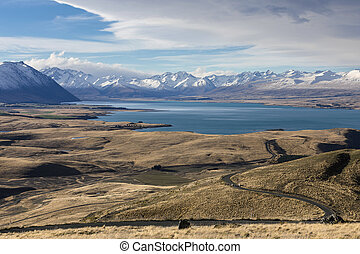 Mt John - View from Mt John Observatory, Lake Tekapo, New...