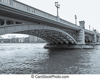 River Thames in London - Panoramic view of River Thames...