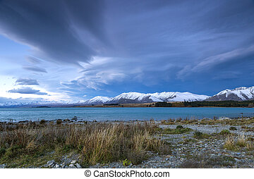 Lake Tekapo - cloud at Lake Tekapo, Canterbury, New Zealand