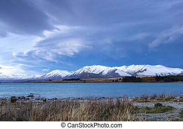 Lake Tekapo - view of Lake Tekapo, Canterbury, New Zealand