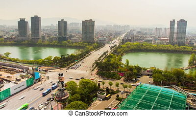 Seoul City 224 - 224 Time lapse in Jamsil of a huge...