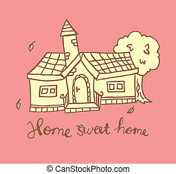 home sweet home doodle