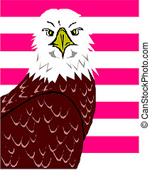 American eagle illustration in vector