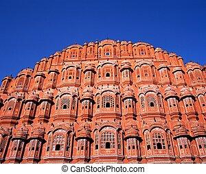 viento, palacio, Jaipur, India