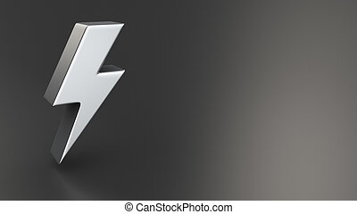 Electricity, power and energy symbol in the form of a...