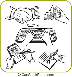 work hands Vector set - work hands Vinyl-ready vector...