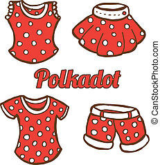 polkadot clothings