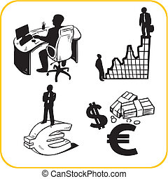 Business and office. Vector set. - Business and office....