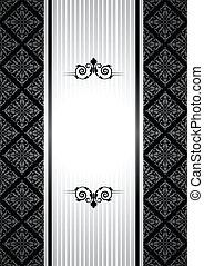 vintage background - Vector black and white vintage...