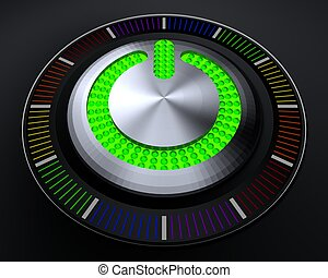 START Button with Glowing Lights - START Button with Glowing...