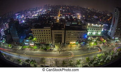 Seoul City 231 - 231) Time lapse of Gangnam from night to...
