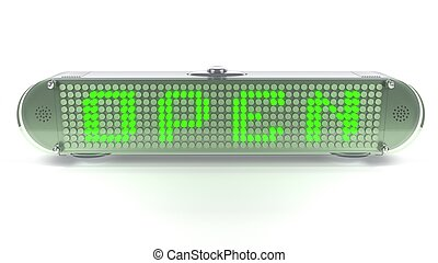 OPEN - Digital Light Pin Sign - OPEN - Digital Pin Sign with...