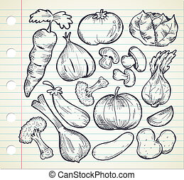 vegetables doodle