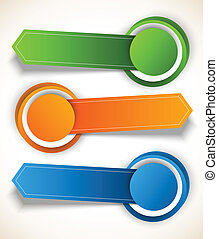 Abstract colorful tags with circles