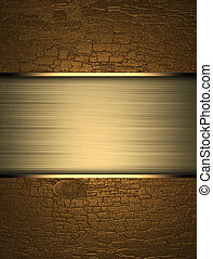 Grunge gold background with yellow texture stripe layout....