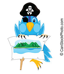 Bird pirate - Illustration of the bird of the pirate on...