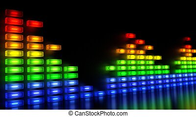Music Sound Levels - Color Blocks - Music Sound Levels with...