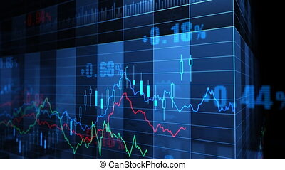 Stock Market trends_065 - Stock market trend of animation.