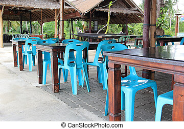 restaurant at the beach . Thailand