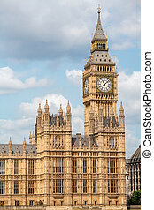 Houses of Parliament. London, UK - Palace of Westminster and...