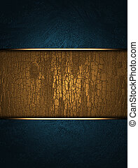 blue background with a gold nameplate for the inscription. -...