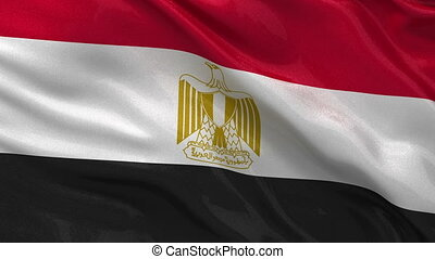 Seamless loop of the Egyptian flag - Flag of Egypt gently...