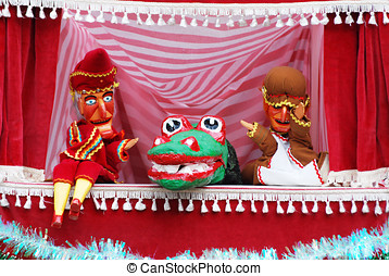 Punch and judy show - Closeup of Punch and Judy show with...
