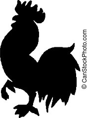 cock silhouette - Illustration of an isolated cock...