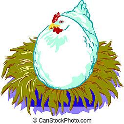 Illustration of a chicken