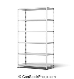 store shelving isolated on a white background
