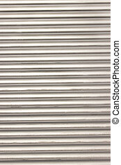 Ribbed aluminum panel texture as background