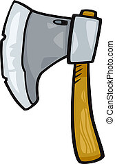 axe clip art cartoon illustration - Cartoon Illustration of...